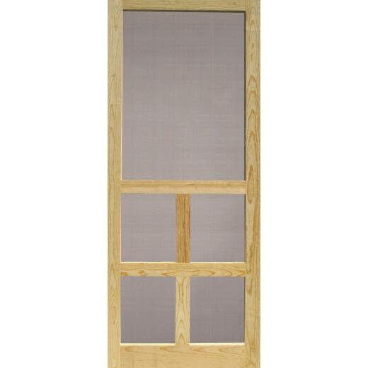 Snavely Victoria 30 In. W. x 80 In. H. x 1-1/8 In. Thick Natural Solid Pine Wood Screen Door