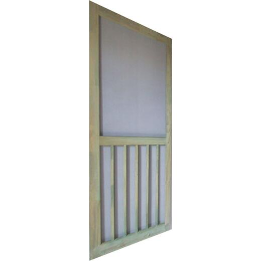 Snavely Kimberly Bay 36 In. W. x 80 In. H. x 1-1/8 In. Thick ACQ Treated Natural Finger Joint Pine Stiles & Rails 5-Bar Screen Door