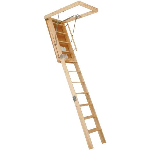 Louisville Champion 8 Ft. 9 In. to 10 In., 25-1/2 In. x 54 In. Wood Attic Stairs, 300 Lb. Load