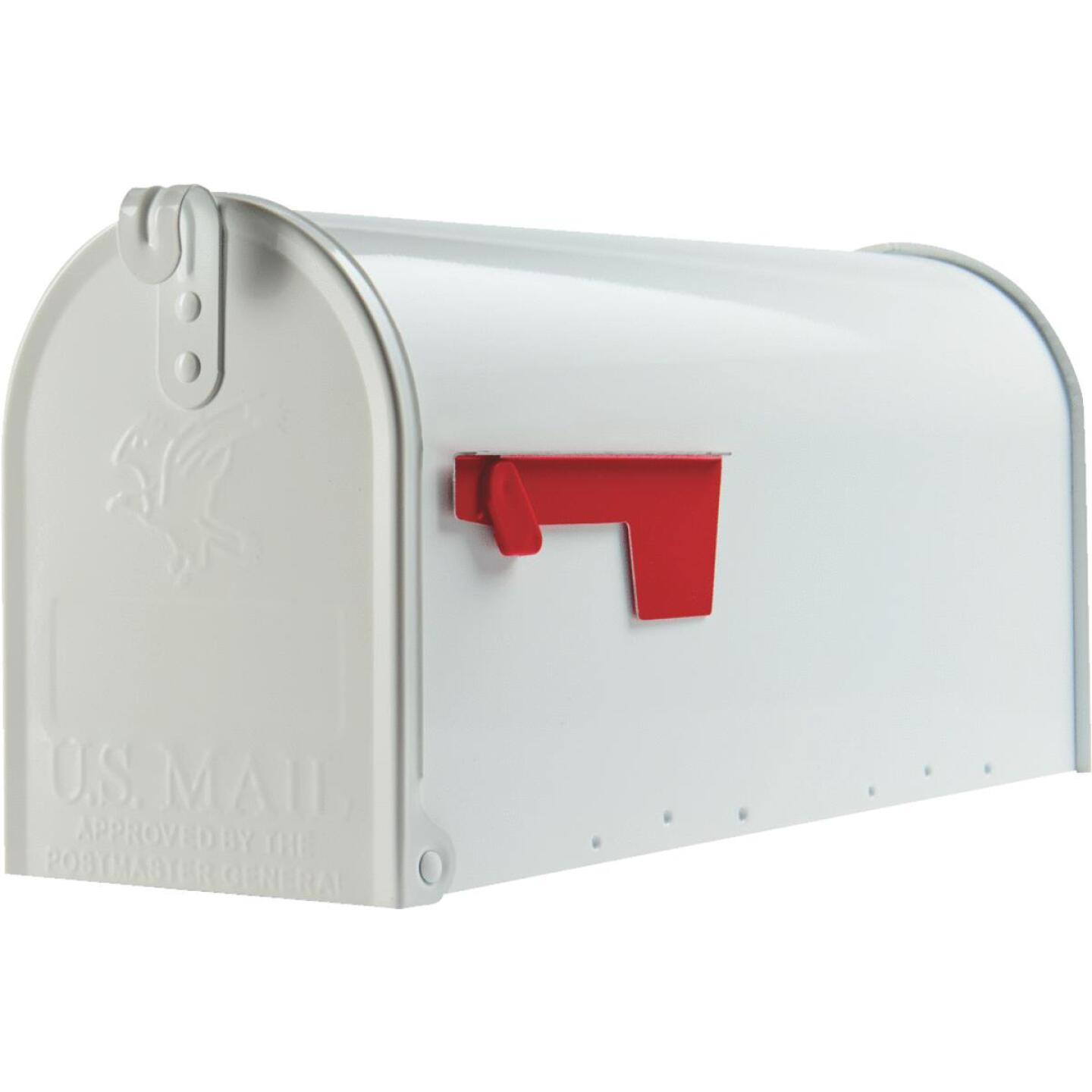 Gibraltar Elite T1 White Steel Rural Post Mount Mailbox Image 2