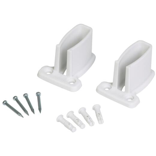 Closetmaid TotalSlide White Wire Shelf End Bracket (4-Count)