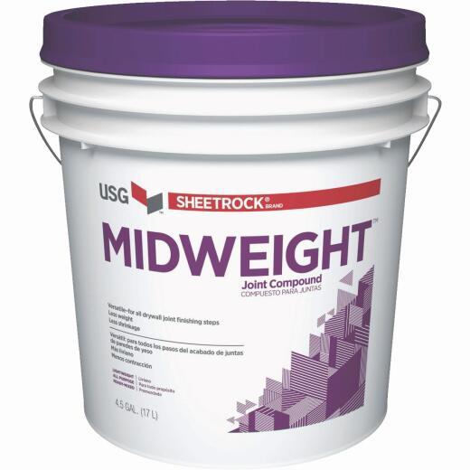 Sheetrock Midweight 4.5 Gal. Pre-Mixed All-Purpose Drywall Joint Compound