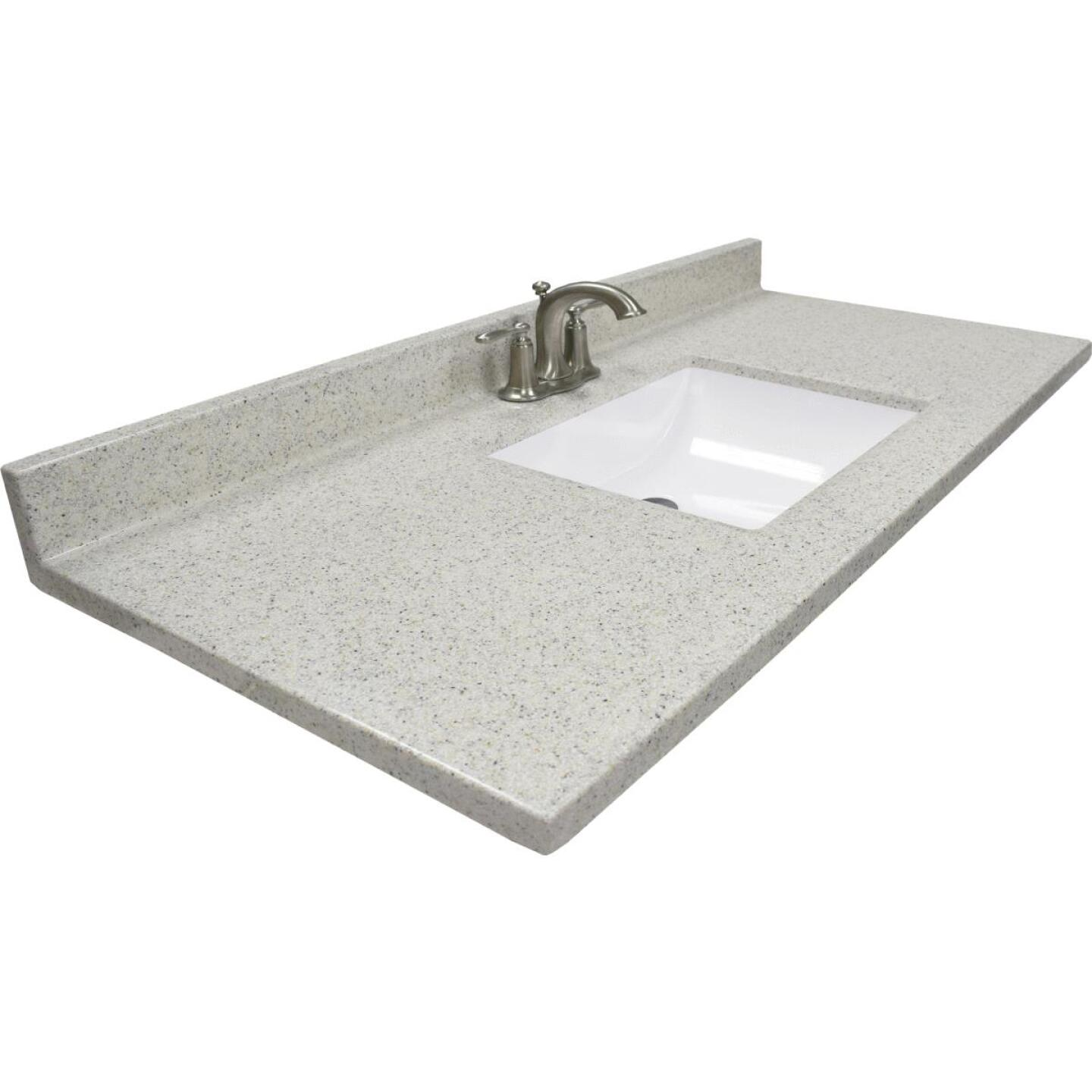 Modular Vanity Tops 49 In. W x 22 In. D Dune Cultured Marble Vanity Top with Rectangular Wave Bowl Image 1