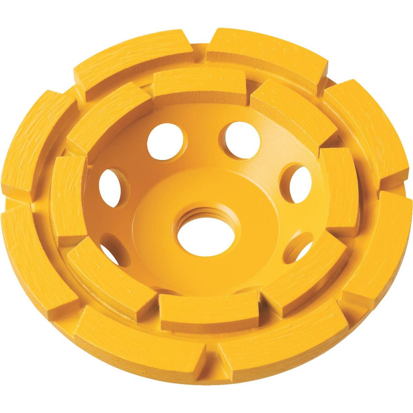 DeWalt 4 In. Segmented Double Row Cup Wheel Image 1