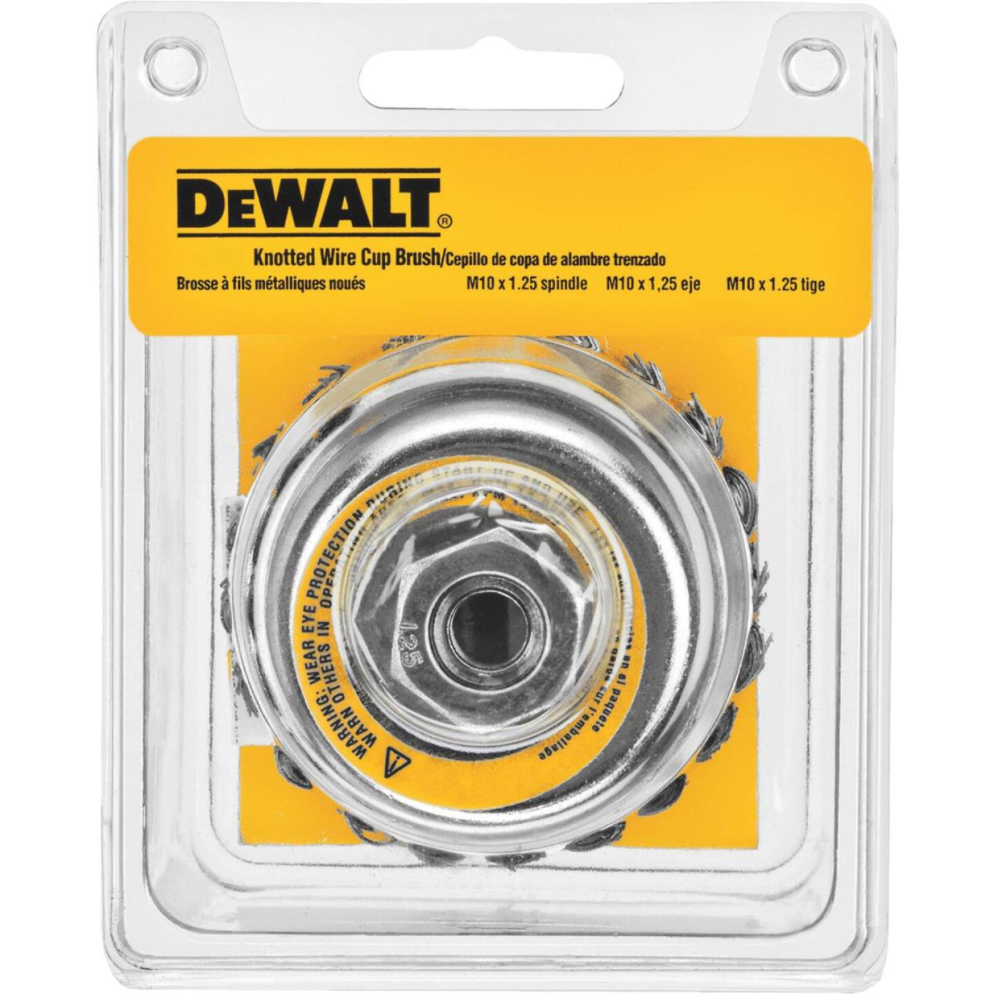 DeWalt 4 In. Knotted 0.020 In. Angle Grinder Wire Brush Image 1