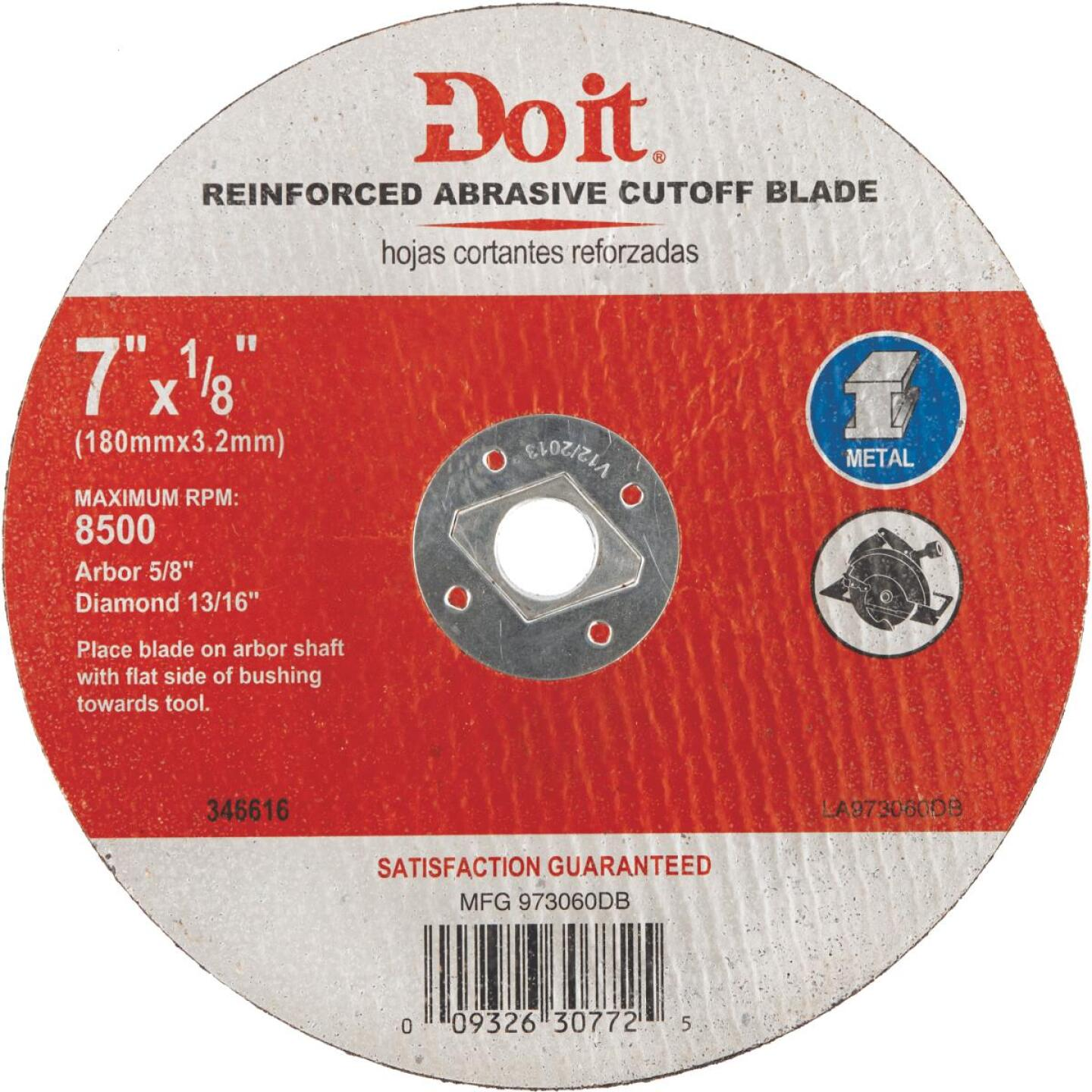 Do it Type 1 7-1/4 In. x 1/8 In. x 5/8 In. Metal Cut-Off Wheel Image 1