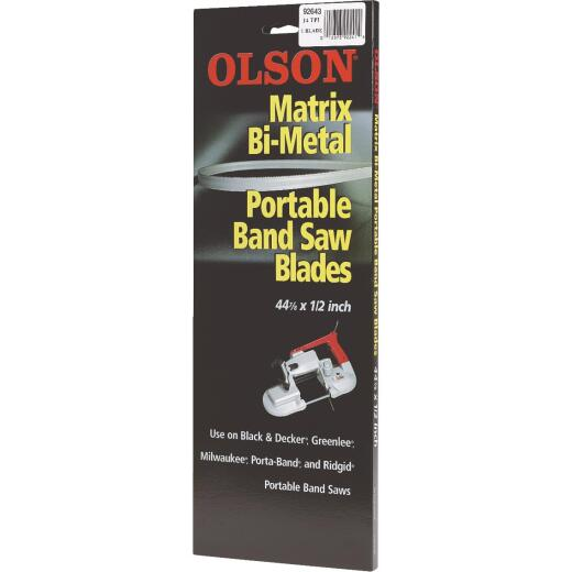 Olson 44-7/8 In. x 1/2 In. 10/14 TPI Vari Metal Cutting Band Saw Blade (3-Pack)