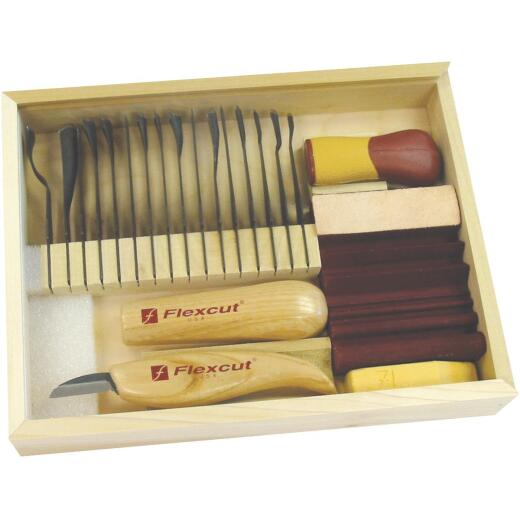 Flex Cut 20-Piece Deluxe Starter Carving Tool Set