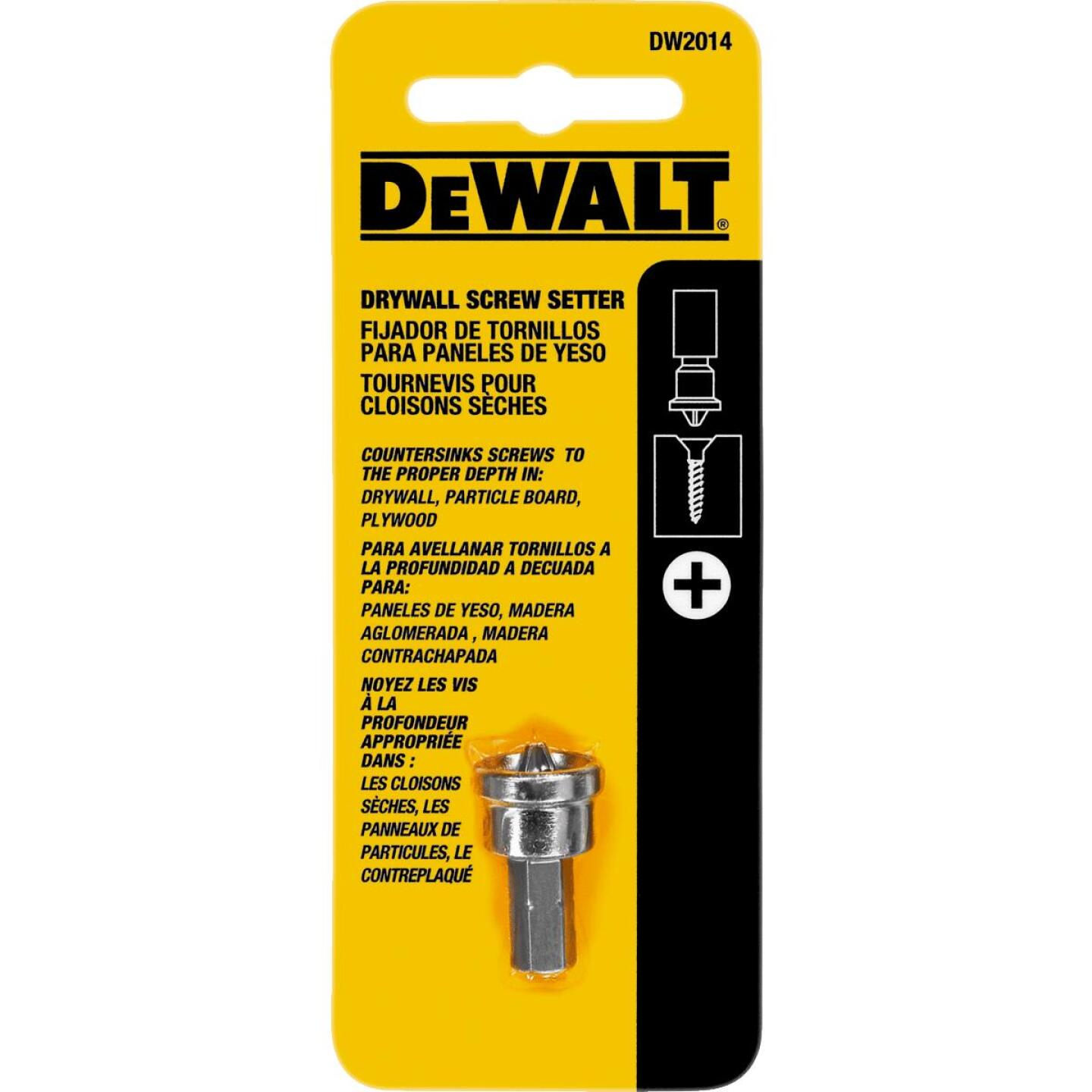 DeWalt #2 Phillips Insert Drywall Dimpler Screw Setter Image 1
