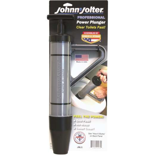 Johnny Jolter Pro Power 3 In. Dia. Toilet Plunger