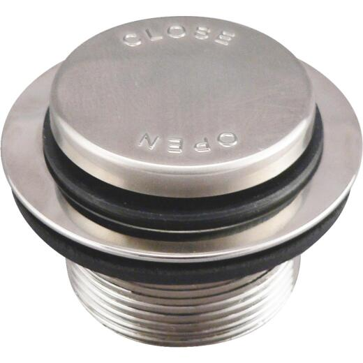Do it Foot Lok Stop Bathtub Drain Stopper with Brushed Nickel Finish