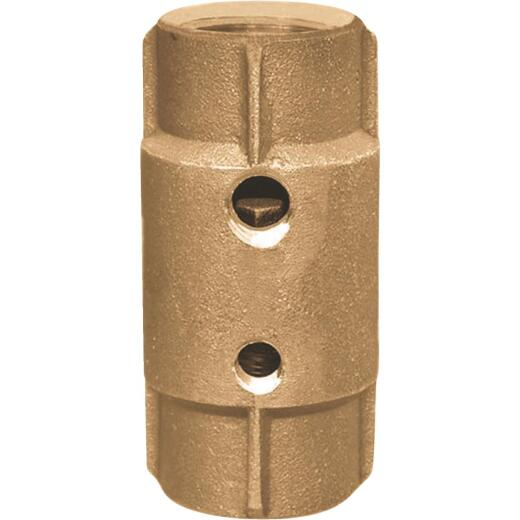 Simmons 1-1/4 In. Silicon Bronze Spring Loaded Check Valve