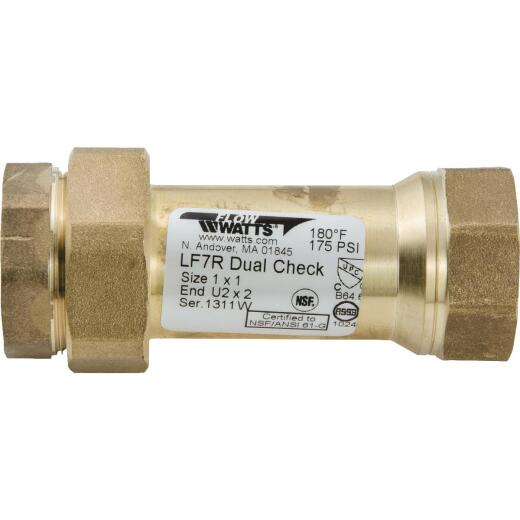 Watts 1 In. Bronze Backflow Preventer Dual Check Valve