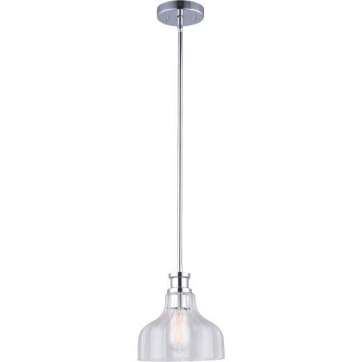 Home Impressions 1-Bulb Chrome Incandescent 8 In. Pendant Light Fixture