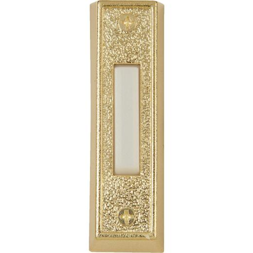 IQ America Wired Gold Plastic Lighted Doorbell Push-Button