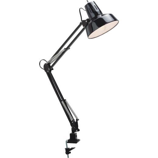 Satco Black CFL Clamp-On Drafting Desk Lamp