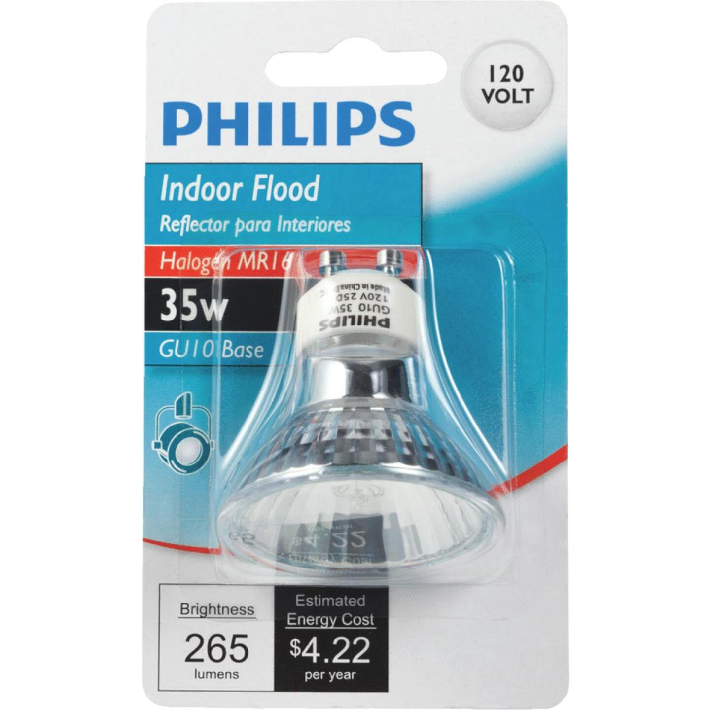 Philips 45W Equivalent Clear GU10 Base MR16 Halogen Floodlight Light Bulb Image 3