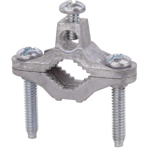 Steel City 1/2 In. to 1 In. #10 to #2 AWG Set Screw Ground Clamp