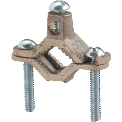 Steel City 1/2 In. to 1 In. #8 & #4 AWG Set Screw Ground Ground Clamp