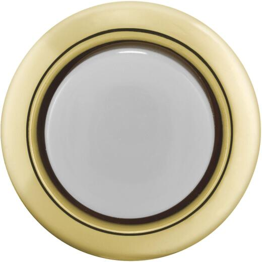 IQ America Wired Gold Round Lighted Doorbell Push-Button