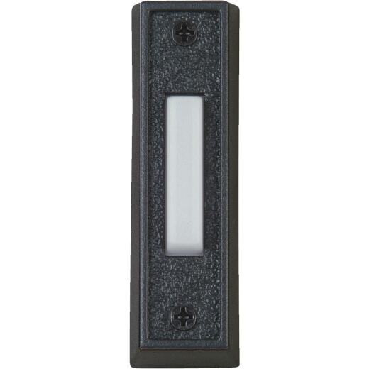 IQ America Wired Black Plastic Lighted Doorbell Push-Button