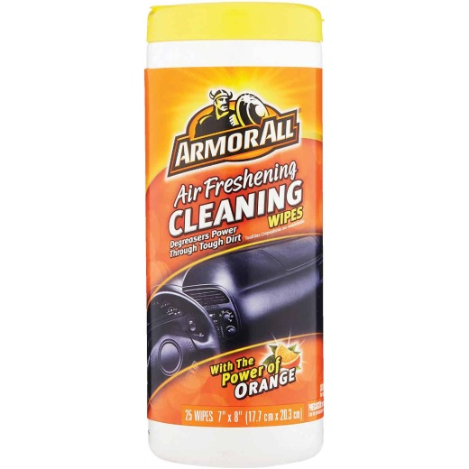 Armor All Air Freshening Cleaning Orange 7 In. x 8 In. Cleaning Wipes (25-Count)