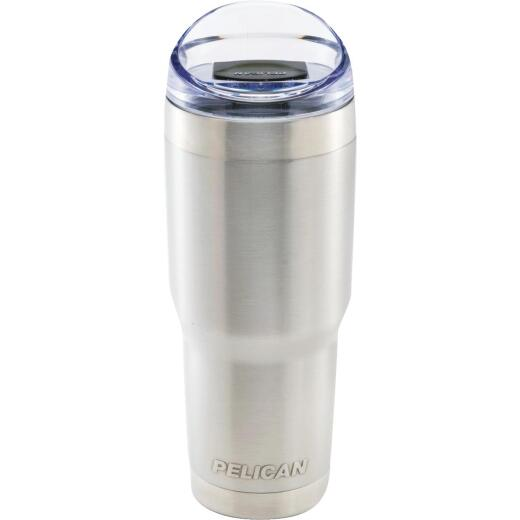 PELICAN 32 Oz. Silver Stainless Steel Insulated Tumbler with Slide Closure