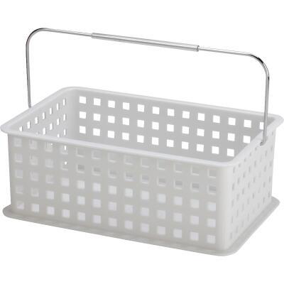 InterDesign Medium White Plastic Basket