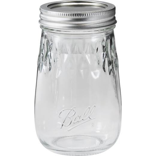 Ball Pint Fluted Freezer Jar (4 Pack)