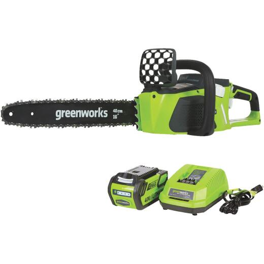 Greenworks G-MAX 16 In. 40V Lithium Ion Brushless Cordless Chainsaw