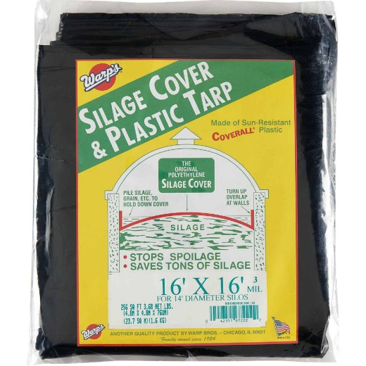 Warp's 16 Ft. X 16 Ft. Coverall Polyethylene 3 Mil. Silage Cover