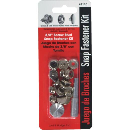 Lord & Hodge Metal Snap Fastener Kit Canvas to Hard Surface (6 Ct.)