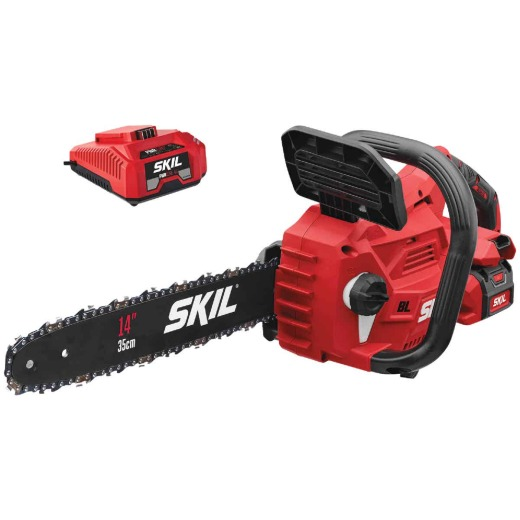 SKIL PWRCore 14 In. 40V Brushless Chain Saw with AutoPWRJump Charger