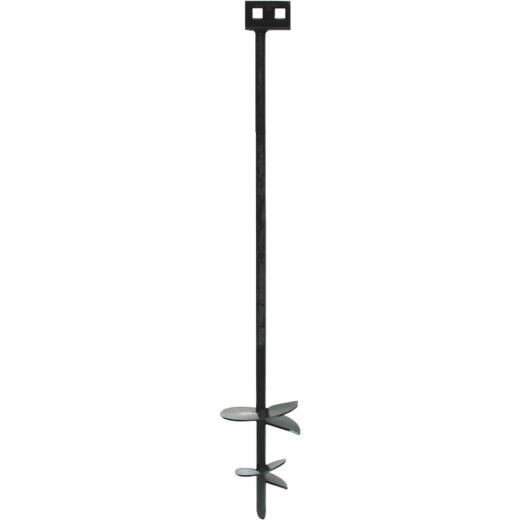 Tie Down 4 In./6 In. x 36 In. Black Iron Double Head Earth Anchor