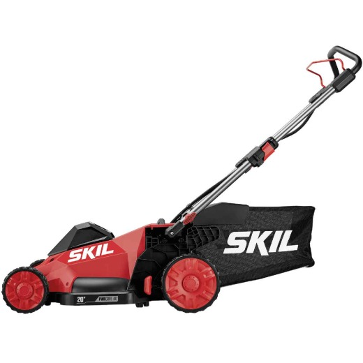 SKIL PWRCore 40 Brushless 40V Push Lawn Mower Kit with 5.0Ah Battery and AutoPWRJump Charger