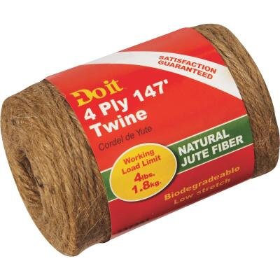 Do it 4-Ply x 147 Ft. Brown Jute Biodegradable Twine