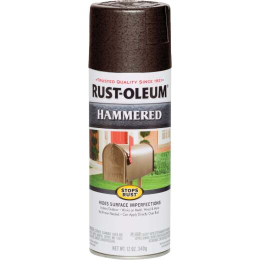 Rust-Oleum Dark Bronze Metallic 12 Oz. Hammered Finish Spray Paint