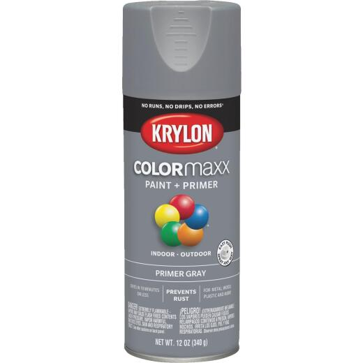 Krylon ColorMaxx Gray 12 Oz. All-Purpose Spray Paint Primer