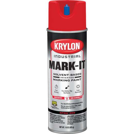 Krylon APWA Red 15 Oz. Inverted Marking Spray Paint
