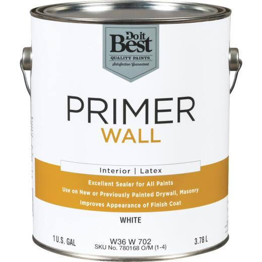 Do it Best Interior Latex Wall Primer, White, 1 Gal.