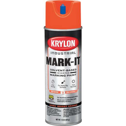 Krylon APWA Orange 15 Oz. Inverted Marking Spray Paint