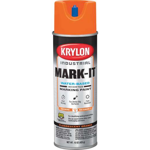 Krylon Fluorescent Orange 15 Oz. Inverted Marking Spray Paint