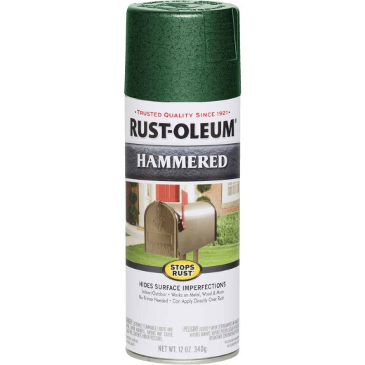 Rust-Oleum Deep Green Metallic 12 Oz. Hammered Finish Spray Paint