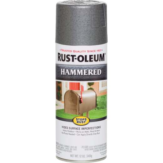Rust-Oleum Gray Metallic 12 Oz. Hammered Finish Spray Paint
