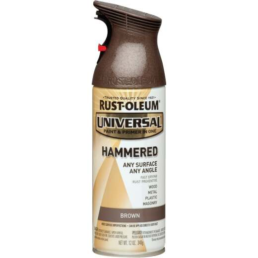 Rust-Oleum Universal 12 Oz. Hammered Brown Paint
