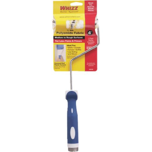 Whizz 4 In. x 1/2 In. Medium To Rough Paint Roller Cover & Frame