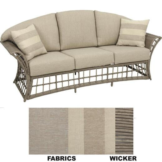 La Havana 3-Person 79 In. W. x 32 In. H. x 31.5 In. D. Wicker Sofa