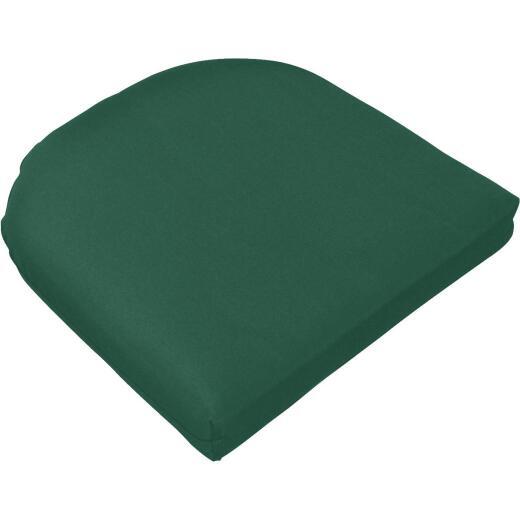 Casual Cushion 19.5 In. W. x 2.5 In. H. x 19.5 In. D. Green Chair Cushion