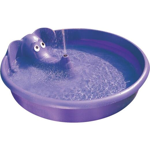 H2O 12 In. D. x 60 In. Dia. Purple Polyethylene Elephant Spray Pool