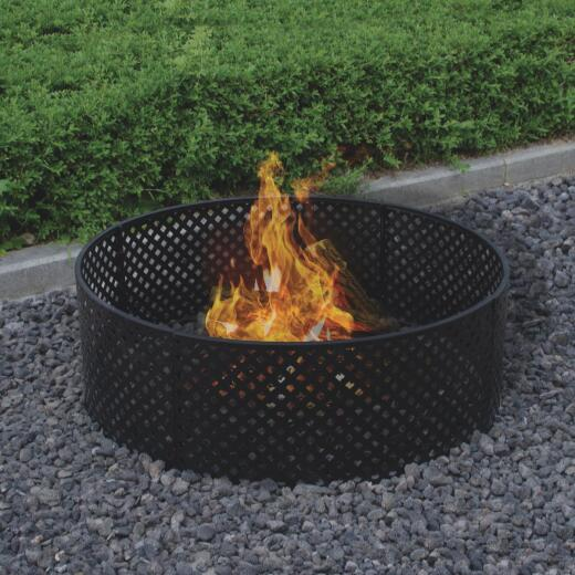 Bond 36 In. Powder Coated Steel Lattice Style Fire Ring